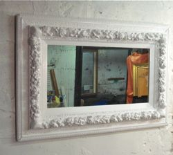 Glamorous Antique White Mirror